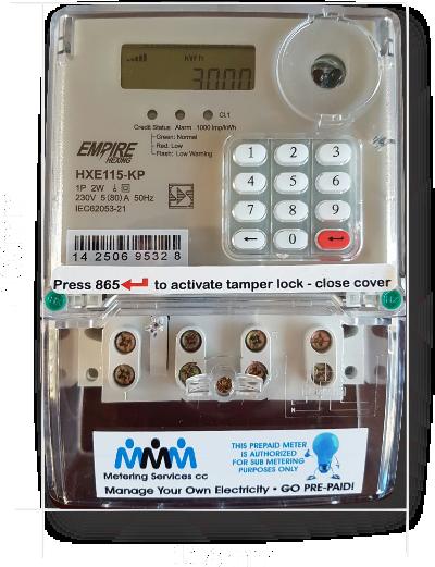 Prepaid Electricity Meters Triple M